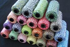 Divine Cotton Bakers Twine String Cord 2mm 12ply DIY Crafts Wedding Party 22Clrs