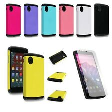 Hybrid Rubber Tough Heavy Duty Case Cover Defender for LG Google Nexus 5 D820
