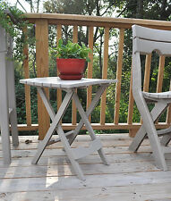 Adams Stand Quik-Fold Side Table White Patio Chair Furniture Lounge Tray Outdoor