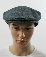 NEW GENUINE HARRIS TWEED CAP MADE IN ENGLAND GREY BLUE COLOUR ALL SIZES BB05