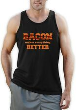 Bacon Makes Everything Better Singlet Bacon Lovers Crisp Humor Stripes Vest