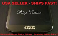 **Bling Swarovski Home Button Sticker Samsung Galaxy s3, s4,s5, s6 Note 2, 3, 4