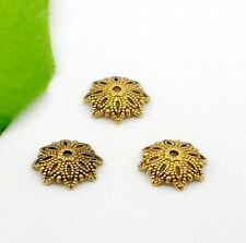 Free Ship 50/250Pcs Gold Plated Flower Beads Caps For Jewelry Making 15x4mm