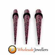 1 x Animal Leopard Print Acrylic Ear Tapers Stretcher Expander Body Jewellery