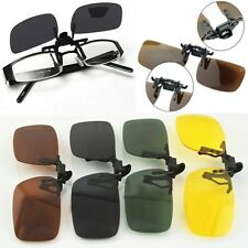 1PC Clip-on Flip-up Day Night Vision Polarized Lens Driving Glasses Sunglasses