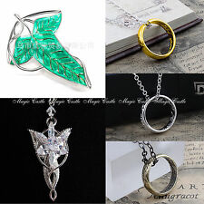 Lord Of The Rings The Hobbit LOTR The One Ring Pendant Necklace  IN GIFT BAG