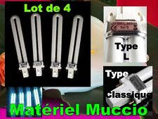 4 NEON 9W TUBE (LAMPE UV ONGLES GEL AMPOULE Manucure) Normes CE Rohs 365 nm L