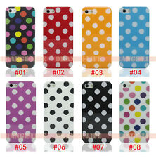 For Apple Iphone 4/4S 5/5S 5C Colorful Polka Dot Design Silicone Soft Case Cover