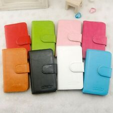 For Nokia Model Phone case Leather Case Simple Style Coloful Wallet Case