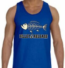 Fillet & Release Fishing Boat MEN'S TANK TOP Small-2XL