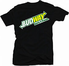 Budway Burn Fresh Funny Stoner Weed Dope Spliff Funny Marijuana 2 Colour T-Shirt