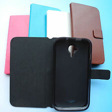 Etui Folio housse coque Case PU leather Cover cuir pour Wiko Cink Five 5
