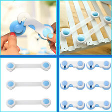 Smile Cute Baby Child Kid Drawer Cabinet Cupboard Fridge Safety Adhesive Locks