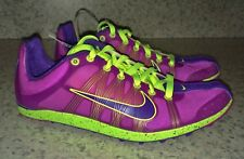 NEW Mens 4 7 NIKE Zoom Victory XC Cross Country Vivid Grape Volt Tr Spikes Shoes