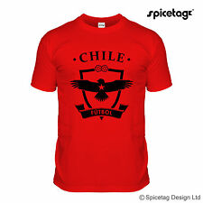 Chile World Football T-shirt Red Brazil Rio Chilean Soccer Team Tshirt Tee Ball