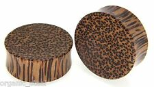 Coco Wood Concave Double Flare plug ear flesh stretcher 3/30mm leopard Coconut