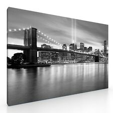 "Large New York Canvas Picture. 20""x30"". Brooklyn Bridge NY City Skyline Wall Art"
