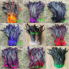 wholesale  50/100pcs multicolor badger saddle Rooster feathers 12-14""