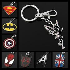 Buy 6 Get 1 Free THE AVENGERS SUPERHERO JUSTICE LEAGUE SILVER PENDANT KEY CHAINS