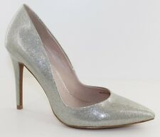 Charles David Pact Silver Glitter Stiletto Pump Classic Heels Womens Size 6 - 10