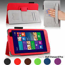Smart Magnetic Folio Leather Cover Case For Dell Venue 8 Pro Windows 8.1 Tablet