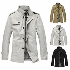 New Men's Cotton Blend Spring Jacket Slim Fit Windbreaker Coat Parka Outwear