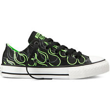 Converse Chuck Taylor All Stars Ox Flame Kids Shoe Black Shoes Jet Green Gecko