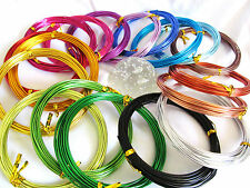 6 Metres of 1.5mm Aluminium Craft Wire ~ Choice of 18 Colours ~ Jewellery Making