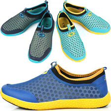 New Mens Beach Aqua Athlectic Sports Mesh Water Comfort Shoes Multi Colored Nova