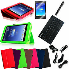 For ASUS MeMO Pad HD 7 ME173X Leather Case Cover Bluetooth Keyboard Accessories