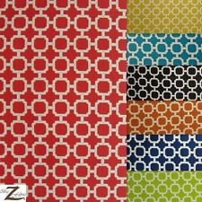 "PREMIUM SQUARE LATTICE CANVAS OUTDOOR FABRIC WATERPROOF 7 Colors 54/56"" SOLD BTY"