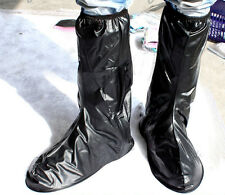 Riding PVC Waterproof Rain Shoes Cover High-Top Overshoe Thicker non-slip bottom