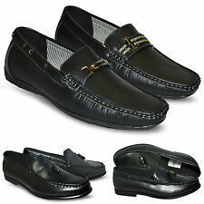 Mens Leather Finish Round Toe Slip On New Driving Loafers Formal Shoes UK Size