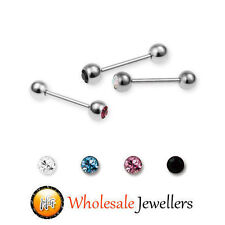 1pc New Surgical Steel Gem Tragus Bar Cartilage Ear Stud Ring Earring Piercing
