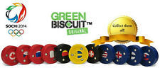"NEW Green Biscuit ""Olympic"" Hockey Puck - Sochi 2014"