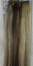 """New 18""""-26"""" Human Hair Extensions Weft Weave Straight 100g Mixed Blonde #6/613"""
