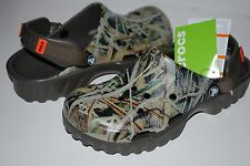 NWT CROCS OFF ROAD MOSSY OAK camo print 6 7 8 9 10 11 12 13 hiking shoes BROWN