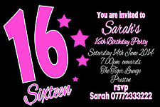 Personalised Birthday Invitations  Party Invites 18th 21st 30th 40th, 50th