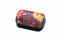 Japanese Plastic Bento Box (Cute! Fun! Collectible!): Traditional Flower Pattern