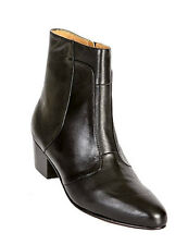 Giorgio Brutini Black Soft Leather Mens New Cuban Heel Trending Ankle Solid Boot