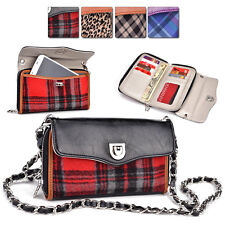 S Woman-s Faux Leather Convertible Shoulder Smart-Phone Clutch Travel Hand-Bag