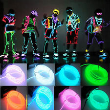 US 15ft Neon Light Glow EL Wire Led Strip Tube Car Party Bar Decoration Colorful