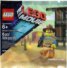 LEGO THE LEGO MOVIE - WESTERN OUTFIT EMMET POLYBAG FIGURE + GIFT - FAST - SEALED