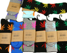 Maple High Men Women Leaf Cotton Marijuana Weed Ankles Socks Colorful New J
