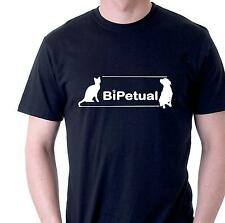 funny t-shirt bipetual cat and dog owners for dogs and cats people  mens womens
