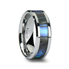Thorsten MAUI Tungsten Carbide Wedding Band Ring Mother of Pearl Comfort Fit New