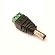 PLUGZ2GO MALE 2.5MM X 5.5MM DC POWER CONNECTOR for CCTV/REPAIRS