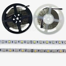 New SMD 5/10/20M 5050 RGBW (RGB+White) LED Strip Light 60LED/M Waterproof DC 12V