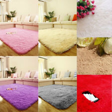 Soft Solid Anti-skid Carpet Living/Dining Bedroom Flokati Shaggy lanital Mat Rug