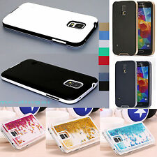 Ultra-Thin Soft Rubber Matte Bumper Case Cover For Samsung Galaxy S5 i9600 +Film